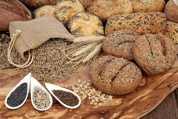 A selection of seeded breads