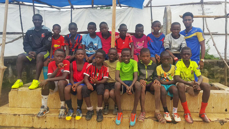 Unicorn United's under-12s football team in Freetown, Sierra Leone