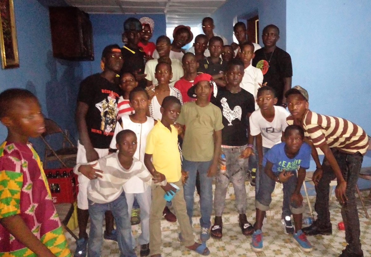 Local boy's football team SL Unicorns at the 2017 Christmas party